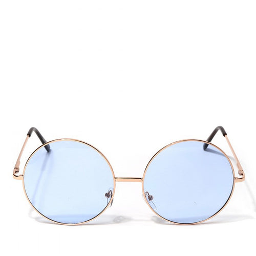 Color Tinted Oversized Round Sunglasses