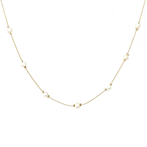 Freshwater Pearl Floating Short Necklace