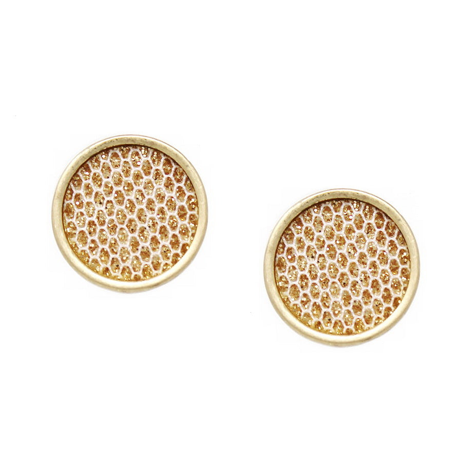 Shimmering Round Stud Earrings