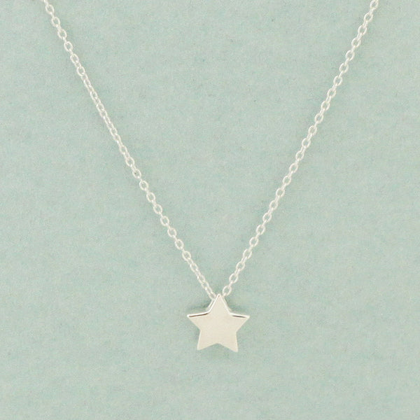925 Sterling Silver Mini Star Necklace