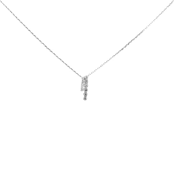 Double Bar Sterling Silver Simple Chain Necklace