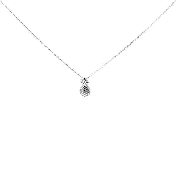 Pineapple Sterling Silver Simple Chain Necklace