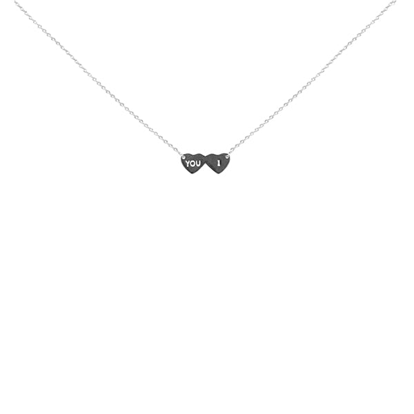 You & I Sterling Silver Chain Necklace