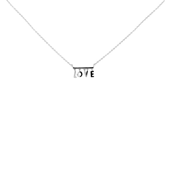 Love Sterling Silver Simple Chain Necklace