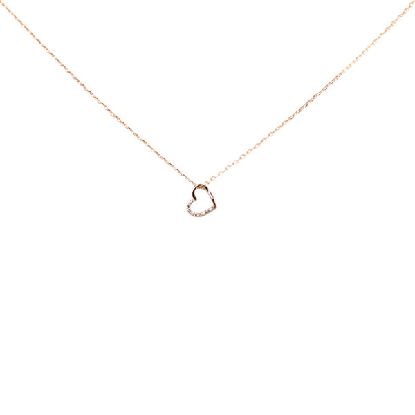 Mini Heart Sterling Silver Simple Chain Necklace
