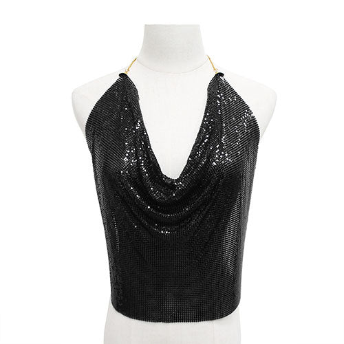 Backless Top Mesh Body Chain - Body Jewlery