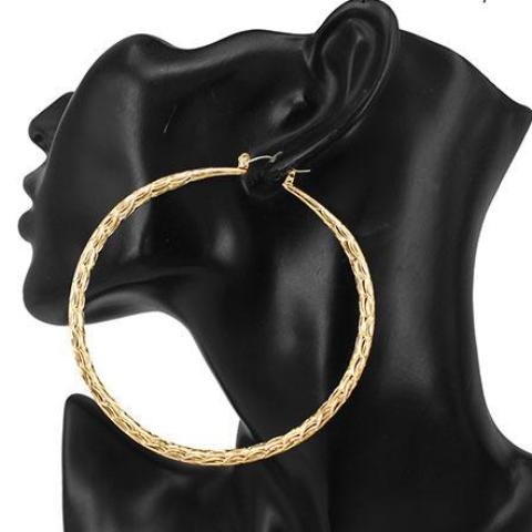 Lightweight Ribbed Hoop Earrings