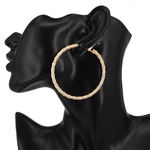 Lightweight Rope Hoop Earrings