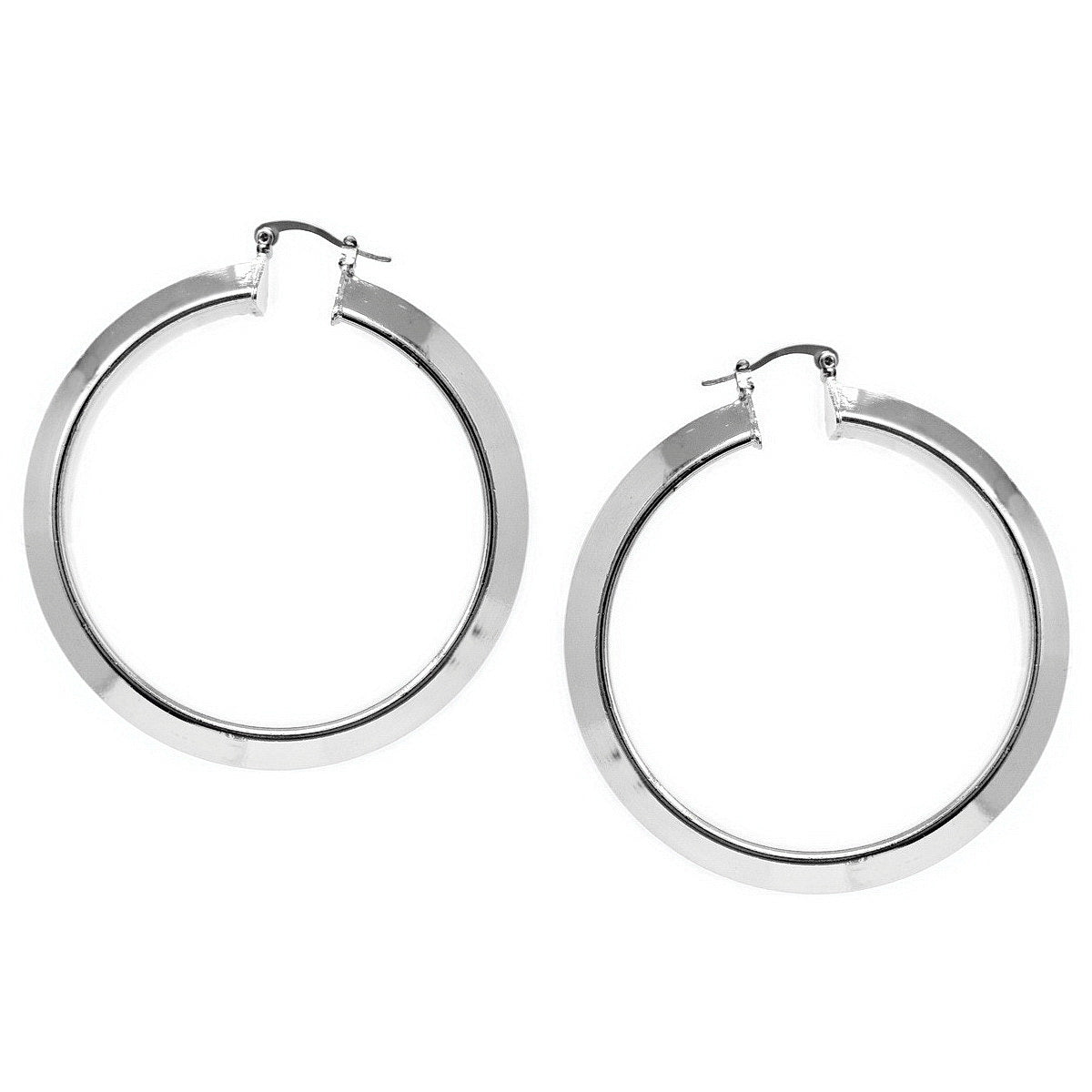 Thick Hoop Earrings (60 mm)