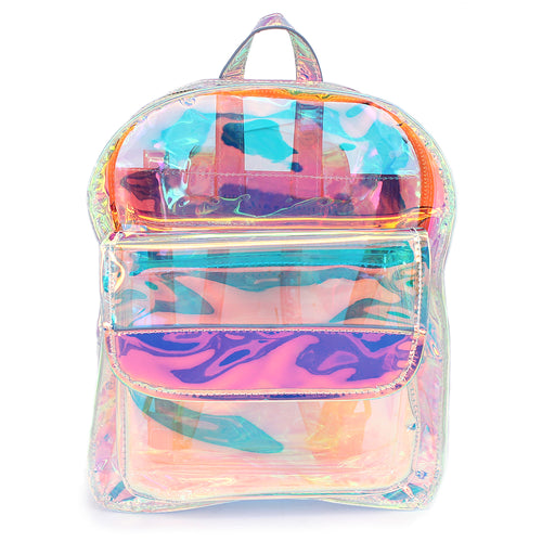 Modern Holographic Clear Vinyl Jelly Backpack