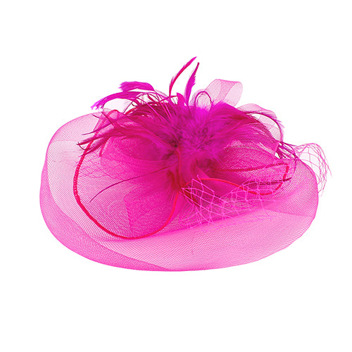 Feather Mesh Bow Hair Fascinator Clip