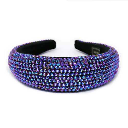 Faceted Acrylic Stone Embellished Padded Headband