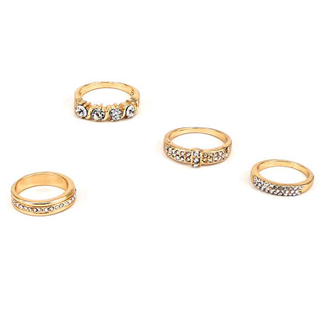 Crystal Urban Multi Ring Set