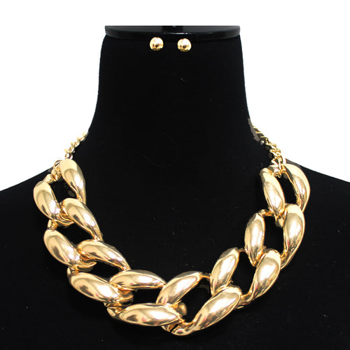 Urban Chunky Chain Short Collar Necklace