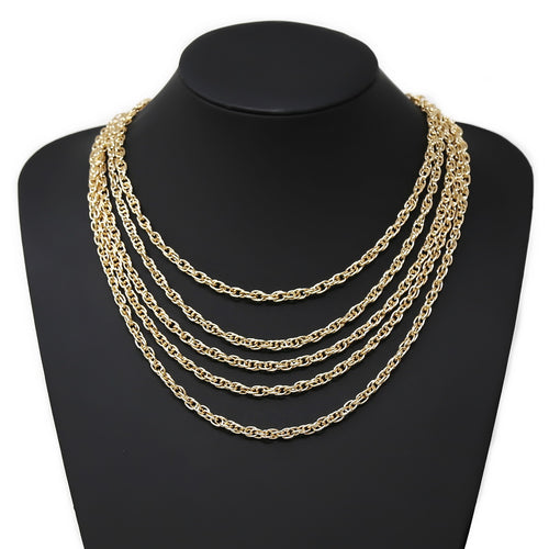 Twisted Linked Chain Necklace Set