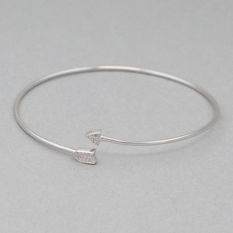 925 Sterling Silver Arrow Cuff Bracelet