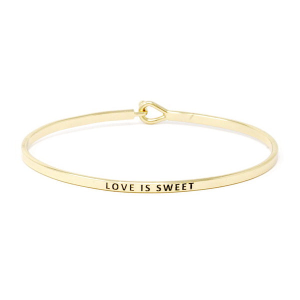 LOVE IS SWEET Inspirational Message Bracelet