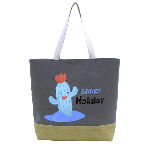 Happy Cactus Summer Holiday Tote Bag