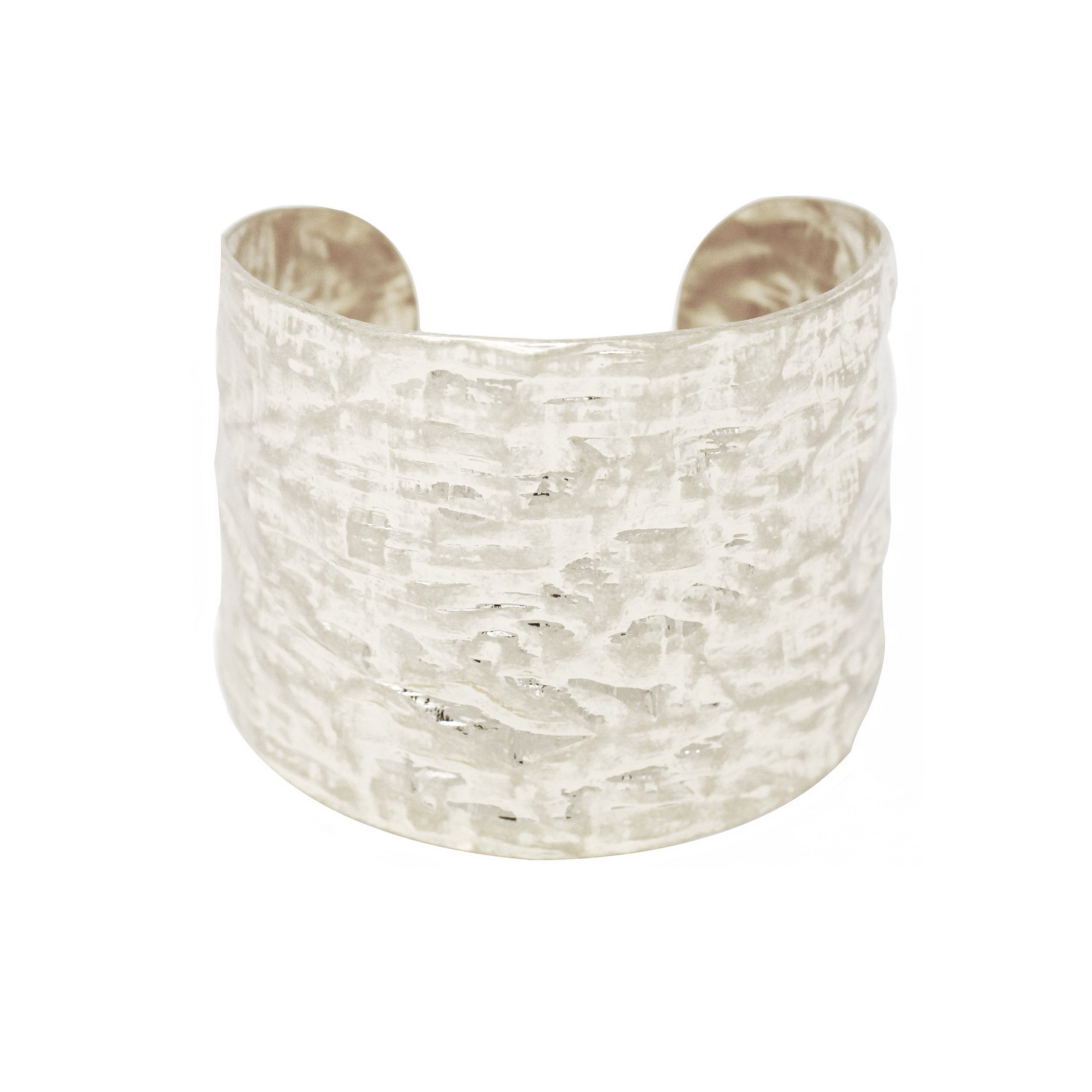 Urban Hammered Worn Metal Cuff Bracelet