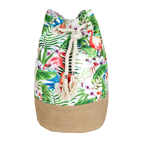 Tropical Flamingo Print Backpack