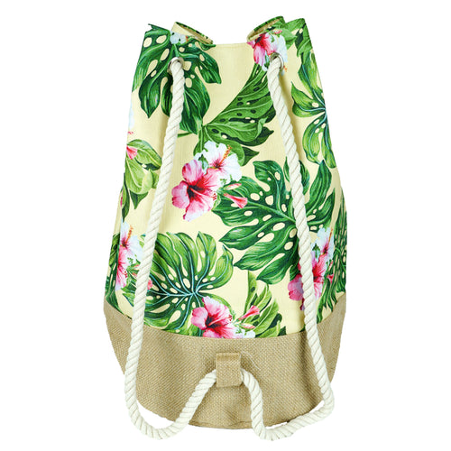 Tropical Hibiscus Print Backpack