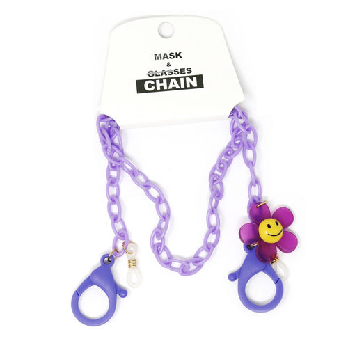 Flower Charm Acetate Link Mask / Glasses Chain