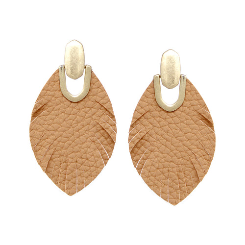 Genuine Leather Fringe Drop Earrings