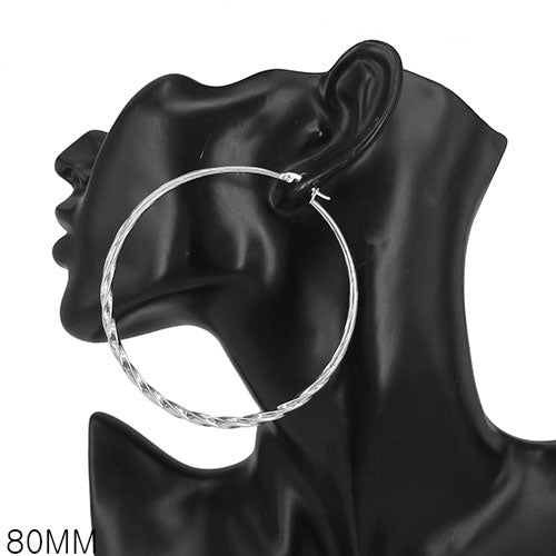 Twist Thin Hoop Earrings