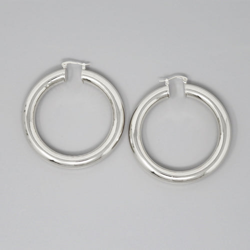 Metal Pipe Hoop Earrings