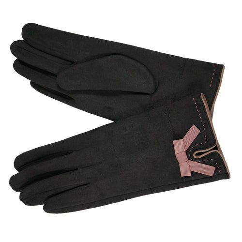 Magic Touch Ribbon Suede Gloves