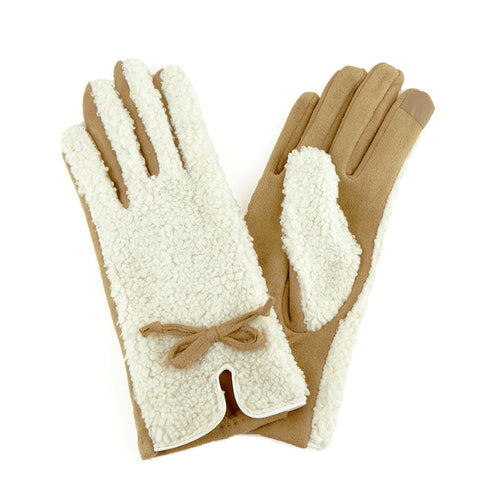 Sherpa Genuine Leather Gloves