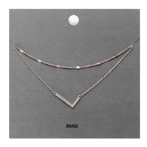 L Initial Double Layer Short Necklace