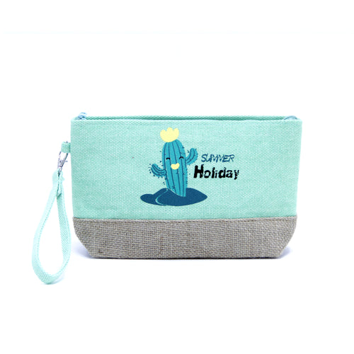 Happy Cactus Summer Holiday Pouch Bag
