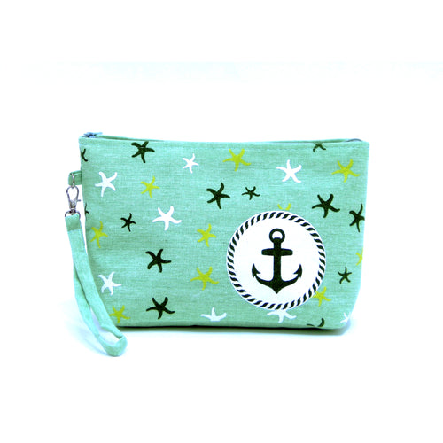 Anchor And Starfish Cotton Pouch Bag