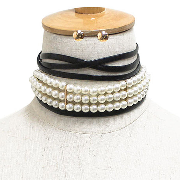 Pearl Wrapped Choker