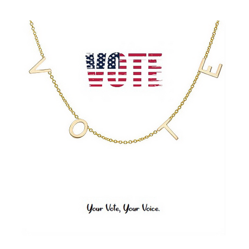 Tell Your Story: VOTE Letter Short Chain Necklace