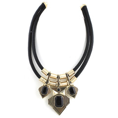 Thick Cord Large Statement Necklace