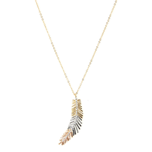 Moving Joint Leaf Necklace
