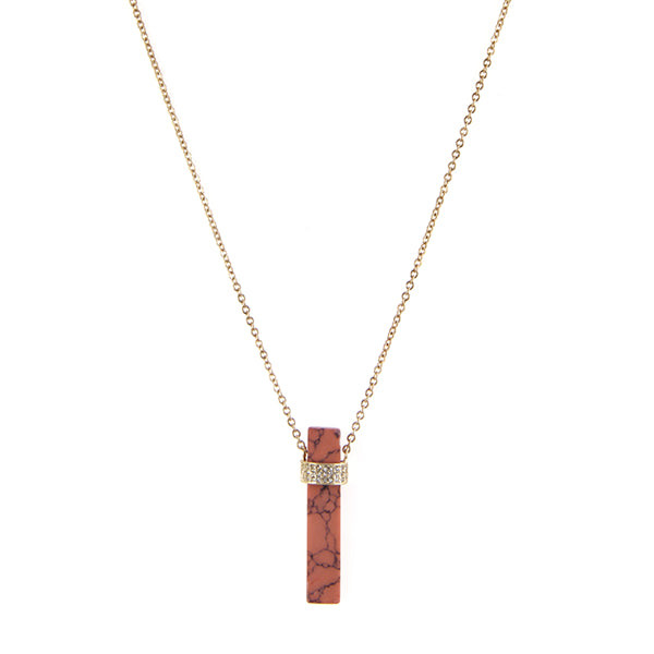 Bohemian Pillar Pendant Necklace