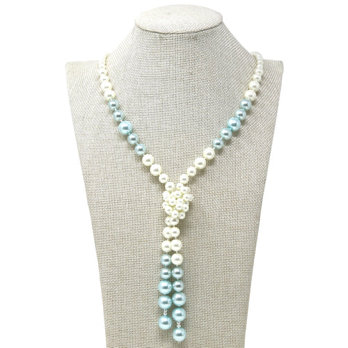 Tied up Classic Pearl Necklace