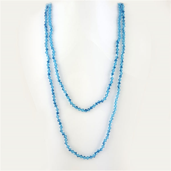 Multi Functional Wrappable Glass Beads 60inch Necklace