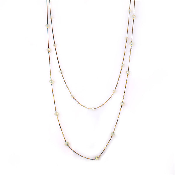 Floating Beads Multi Strands Necklace