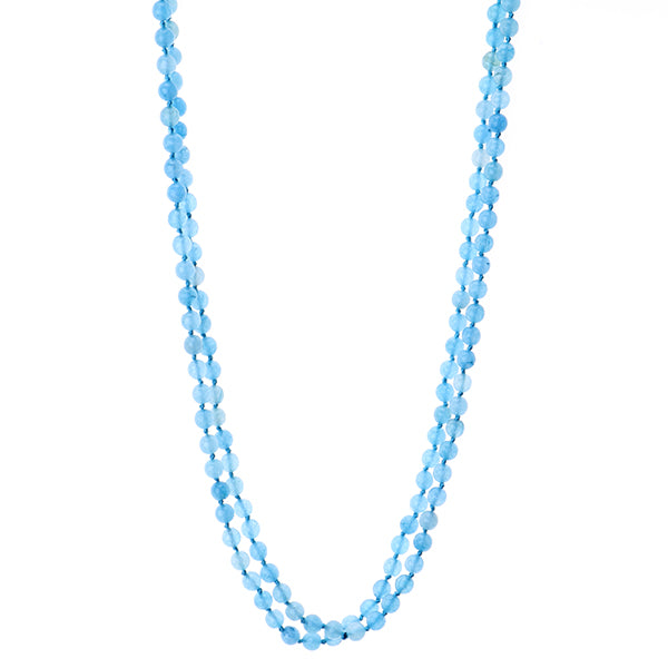 Multi Functional Wrappable Semi Precious Beads 60 inch Necklace