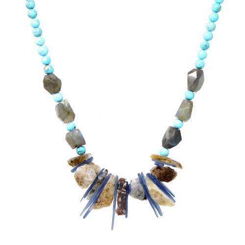 Natural Stone Beaded Necklace