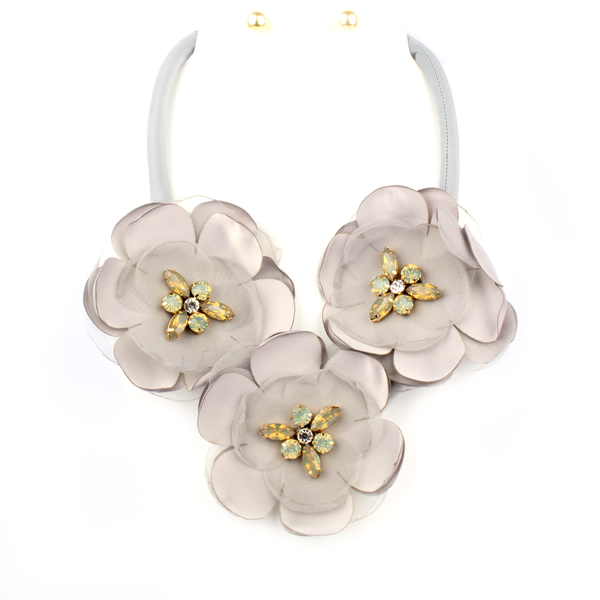 Lightweight Flower Statement Necklace