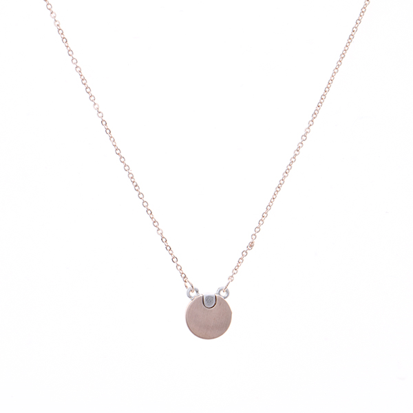 Round Mini Pendant Necklace