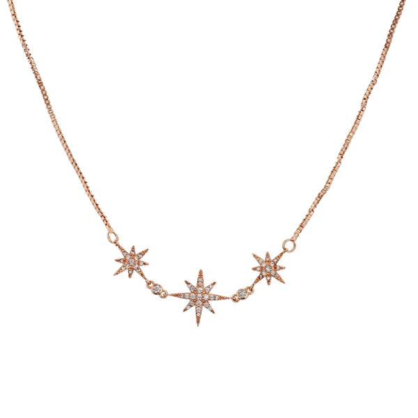 Cubic Zirconia Star Pendant Necklace