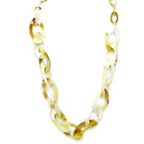 Curved Link Acetate Long Necklace