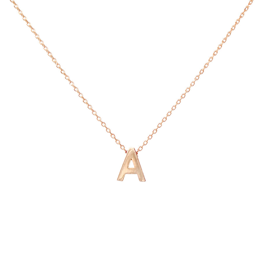 A Initial Mini Pendant Short Necklace