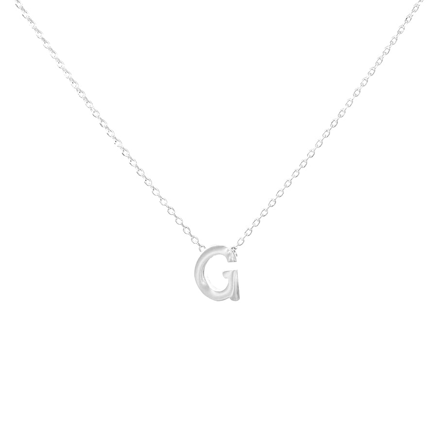 G Initial Mini Pendant Short Necklace